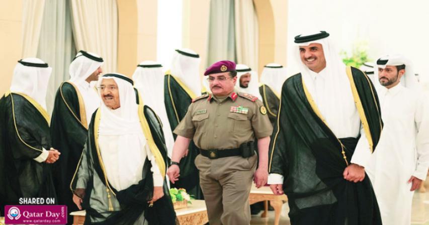 HH the Amir, Kuwait Amir review bilateral ties