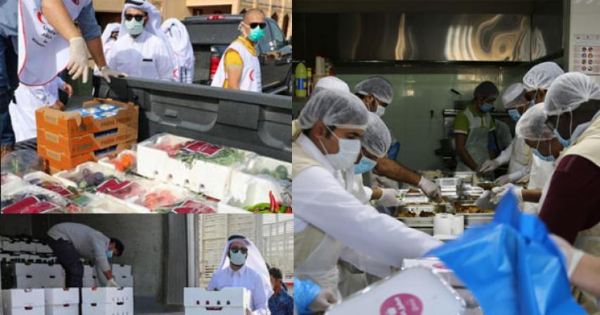 Free meals and vegetables in Qatar during Covid-19 outbreak