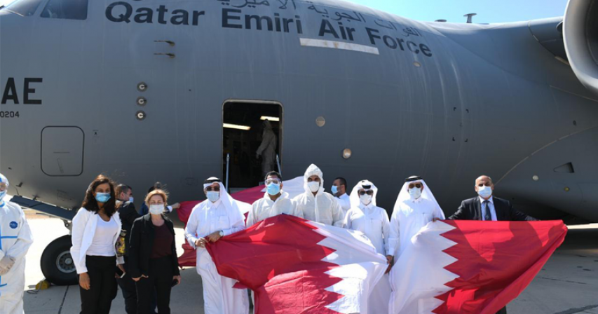 Qatari aircraft carrying two field hospitals and urgent medical aid arrive in Beirut