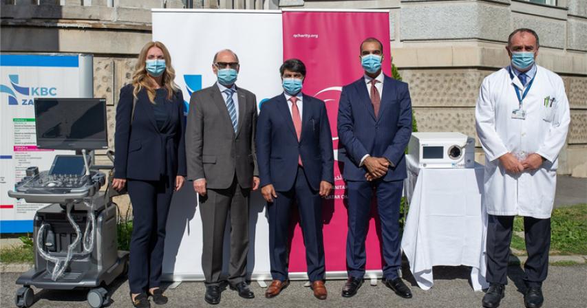 Qatar Embassy delivers medical aid to Croatia