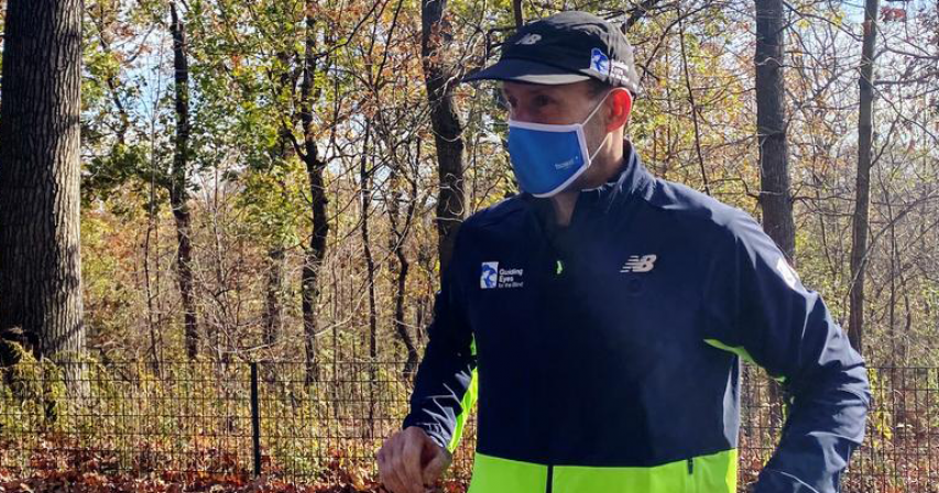 Blind man, 'born to run,' completes solo 5K with trial app to guide him