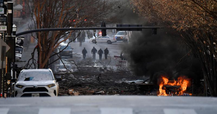 Vehicle explodes in downtown Nashville, police call it an 'intentional act'