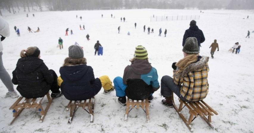 Storm Darcy - Netherlands hit by first major snowstorm in decade