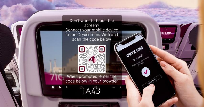 Qatar Airways to become first global airline to offer 100% touch-free in-flight entertainment