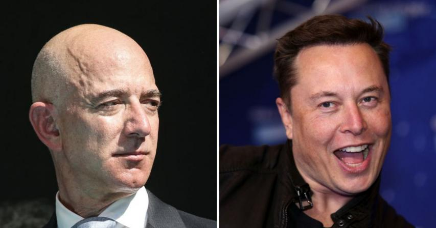 Elon Musk,Jeff Bezos