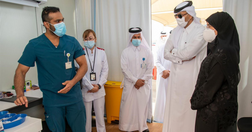 COVID-19 Drive-Through Vaccination Service Will Boost Ability to Protect the Population: Qatar's Health Minister