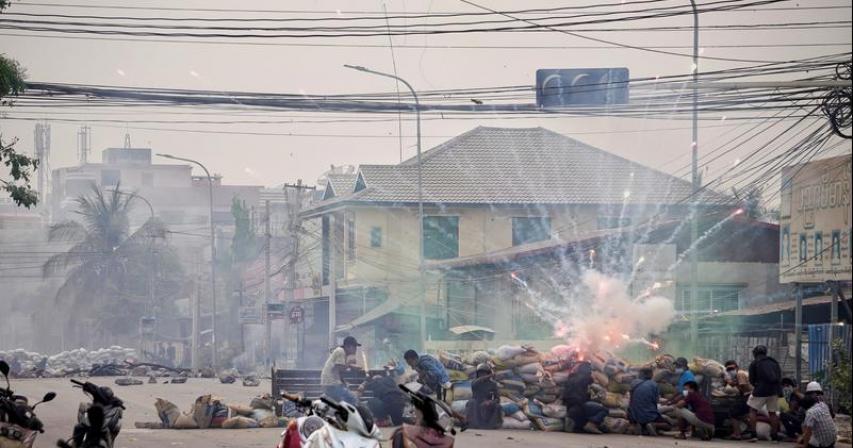 U.S. and Britain blacklist Myanmar military-controlled companies