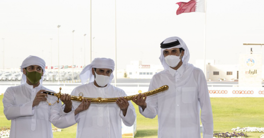 HH The Amir Crowns the Winners of The Arabic Camels Festival For His Highness' Sword