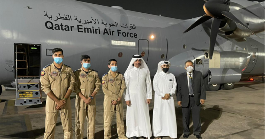 Qatari Medical Aid Arrives in India to Cope with COVID-19 Pandemic