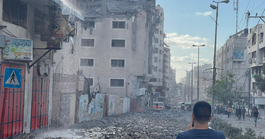 QRCS Receives Messages of Support and Solidarity after Bombing of Headquarters in Gaza
