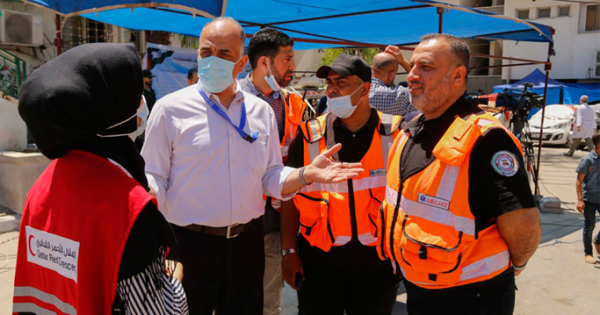 QRCS, PRCS Set to Start $672,000 Relief Aid Distributions in Gaza Strip