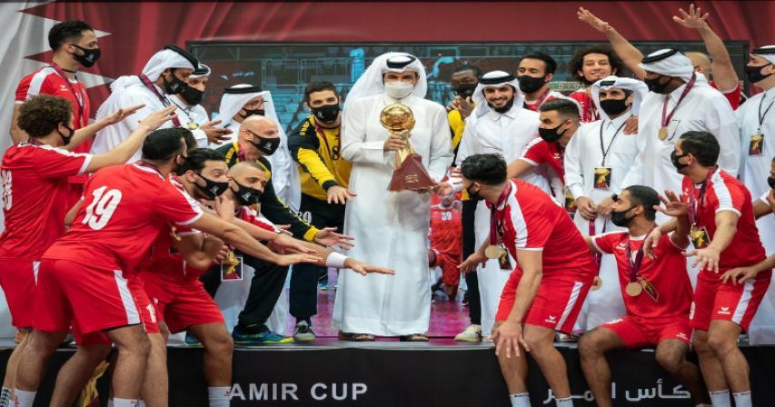 Sheikh Joaan Crowns Al Arabi Champion of HH the Amir Handball Cup