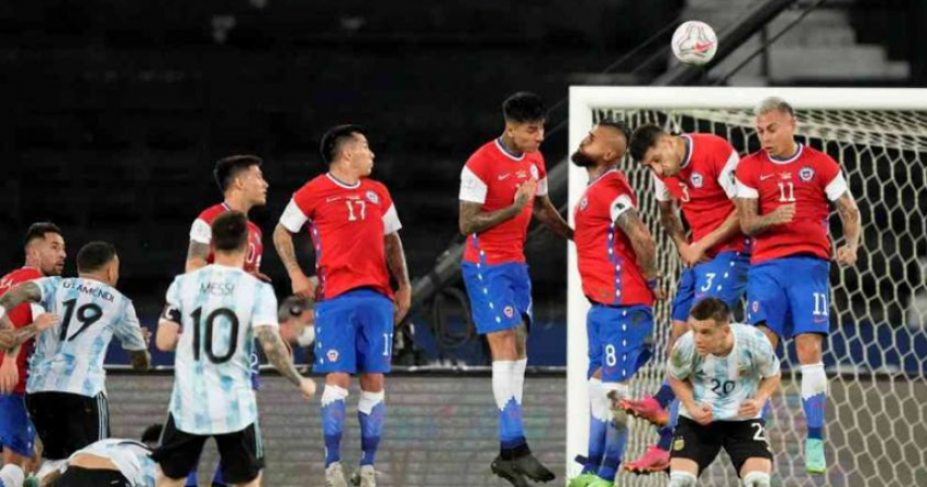 Messi free kick not enough as Argentina held to draw by Chile at Copa America