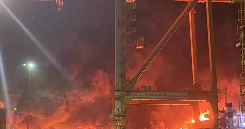 Ship docked at Jebel Ali Port explodes, shaking parts of Dubai