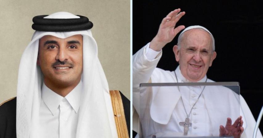 Qatar's Amir sends congratulations to Pope