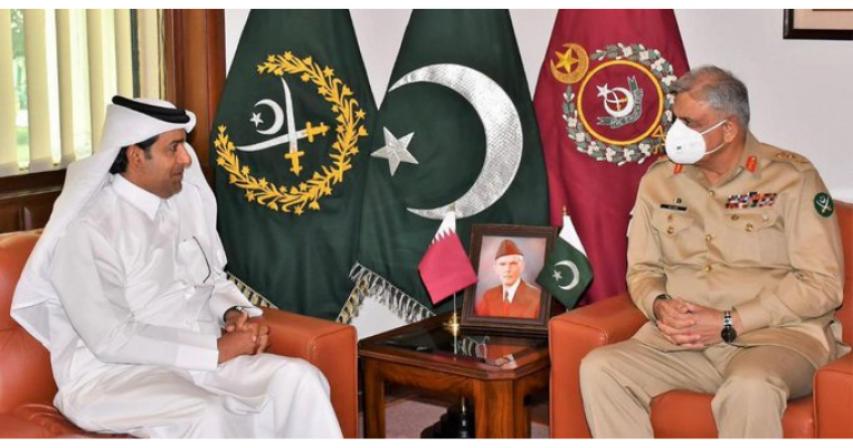 Pakistan Army Chief meets Qatar Envoy