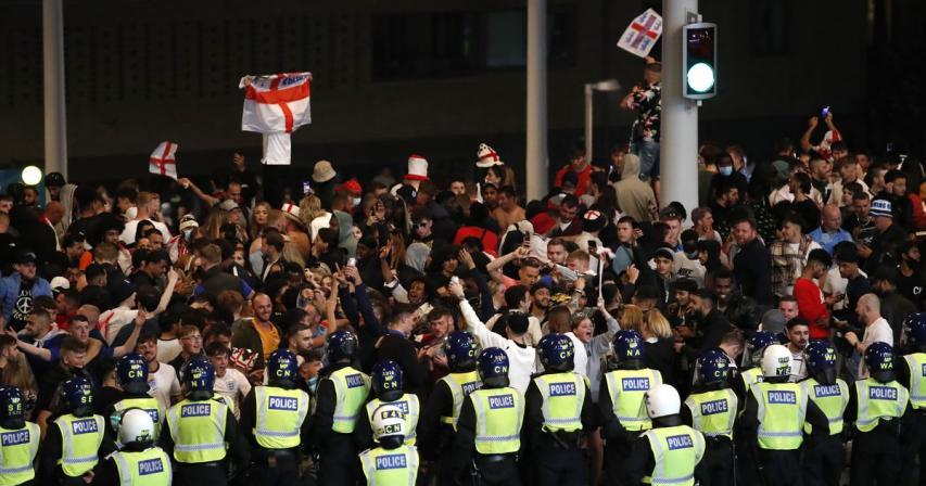 London police arrest 45 around Euro 2020 final