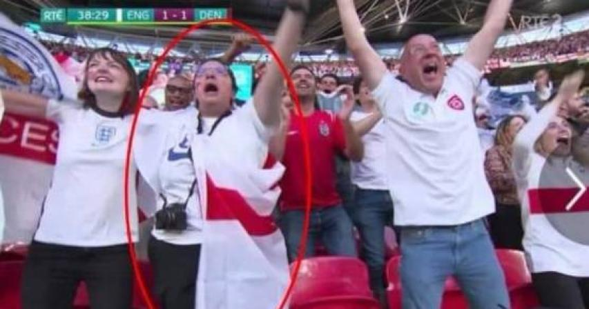 Woman fired after boss spots her on TV at football match