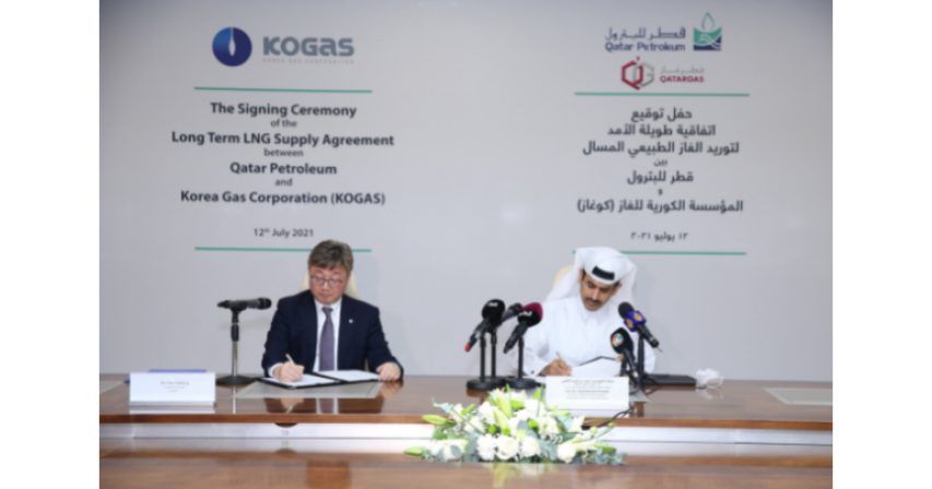QP and KOGAS signs a 20-year SPA to supply 2 Million tons of LNG Annually