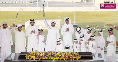 Amir attends final of annual camel festival for Sword of Father Amir