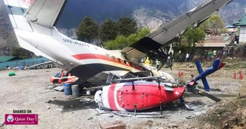 3 killed in Nepal after plane crashes into helicopter during takeoff