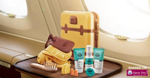 Qatar airways partners with Bric and Nappa Dori for exclusive in-flight amenity kits