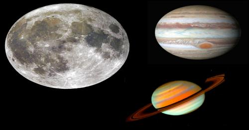 Jupiter and Saturn to approach Moon over Qatar sky