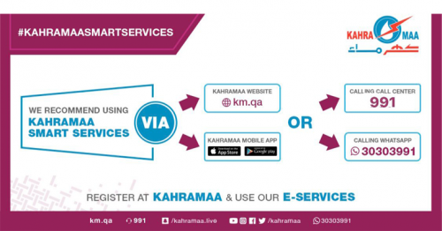 New KAHRAMAA smart service provides high-quality services for users