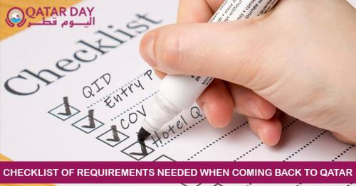 Checklist of Requirements You Need When Returning to Qatar from August