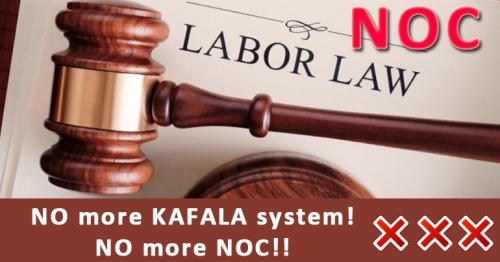 NO more KAFALA system! NO more NOC!!