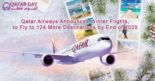 Qatar Airways Announces Winter Flights, Expands Network to 124 Destinations by End of 2020