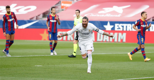 Sergio Ramos penalty sets up Real Madrid's clásico victory over Barcelona