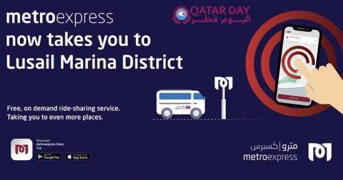 Metroexpress now takes you to Lusail Marina District