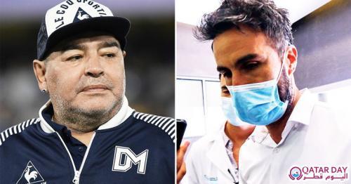 Diego Maradona and hid doctor