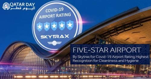 Hamad International Airport — Awarded a '5-Star COVID-19 Airport Safety Rating'