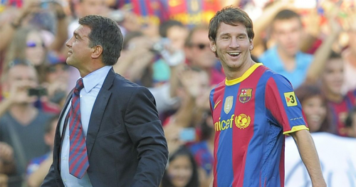 Joan Laporta responds to Neymar's comments about Lionel Messi