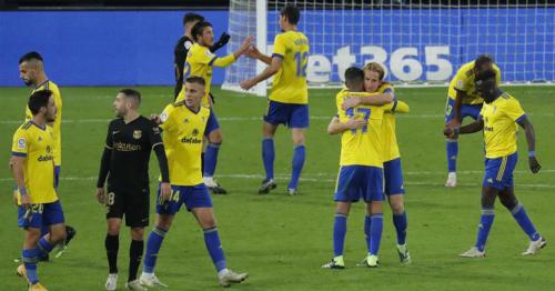 Barca slump to shock loss at Cadiz after Ter Stegen gaffeBarcelona