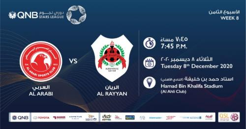 QNB Stars League Week 8 – Al Arabi vs Al Rayyan