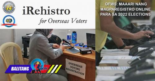OFWs puwede nang magparehistro online para sa 2022 elections – Comelec