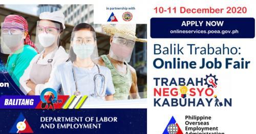 Online Job Fair Para sa OFWs at Non-OFWs ng POEA at DOLE Nagsimula Na!