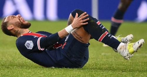 Neymar: PSG forward in tears as he leaves field on a stretcher in Ligue 1 loss to Lyon