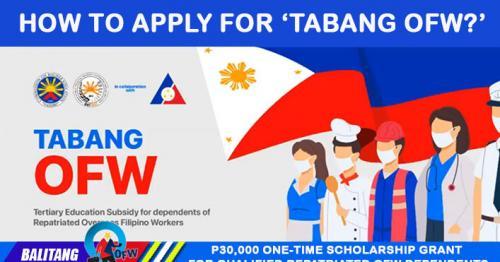 Paano mag-apply sa 'Tabang OFW' Scholarship Program? Alamin dito