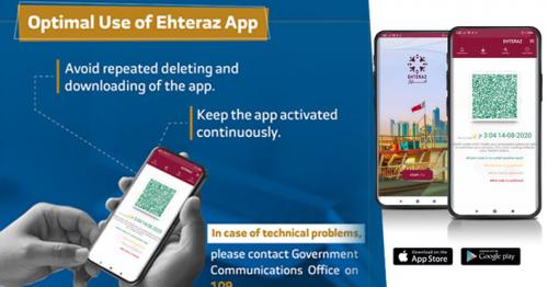 Avoid repeated deleting and downloading of Ehteraz app: MoI