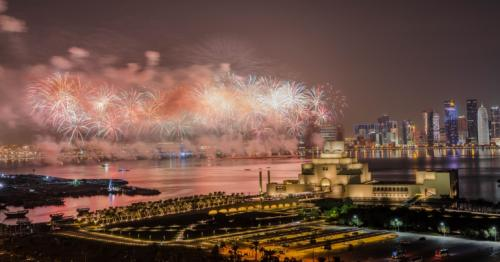 Get the best view of the QND air show and fireworks at JW Doha
