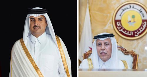 HH The Amir Exchanges National Day Greetings with Shura Council Speaker