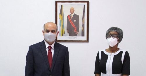 Ambassador of Jamaica to Cuba Receives Credentials of Qatari Ambassador