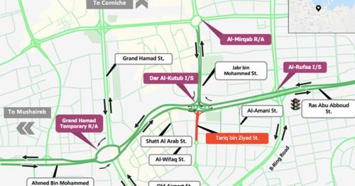 Ashghal Announces Partial Closure on Tariq Bin Ziad Street from Dec. 24