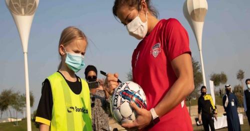 American soccer stars visit QF ahead of 2021 U.S.-Qatar Year of Culture launch