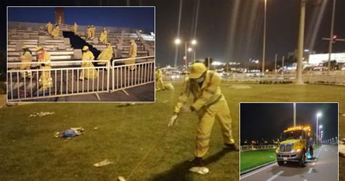 After QND celebrations, general cleaning is completed at Doha Corniche