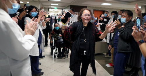 'My second life': California nurse walks out of hospital after 8-month COVID-19 ordeal